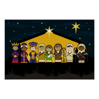 Nativity Characters Poster