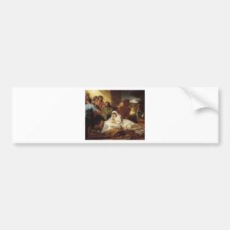 Nativity Christ Baby Jesus Christianity Scripture Bumper Sticker
