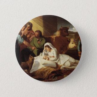 Nativity Christ Baby Jesus Christianity Scripture Button