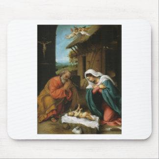 Nativity Christ Baby Jesus Christianity Scripture Mousepads