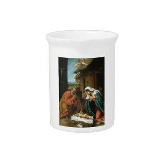 Nativity Christ Baby Jesus Christianity Scripture Drink Pitchers