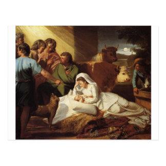 Nativity Christ Baby Jesus Christianity Scripture Post Card