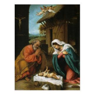Nativity Christ Baby Jesus Christianity Scripture Postcards