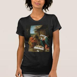 Nativity Christ Baby Jesus Christianity Scripture Tee Shirts