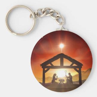 Nativity Christian Christmas Scene Key Chains
