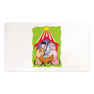 Nativity Christmas Birth of Jesus Christ Stamps Business Card