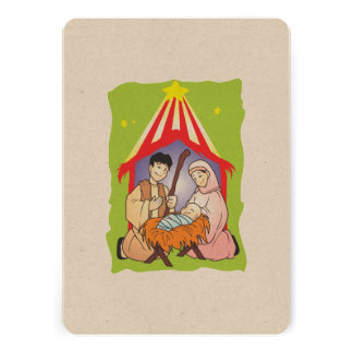 Nativity Christmas Birth of Jesus Christ Stamps Announcement