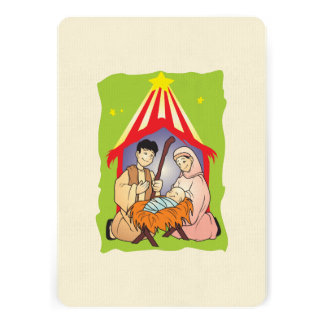 Nativity Christmas Birth of Jesus Christ Stamps Custom Invites