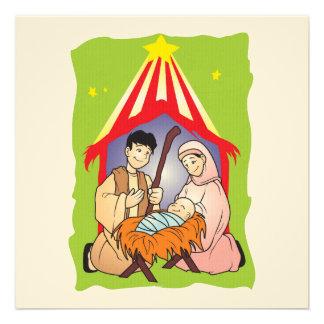 Nativity Christmas Birth of Jesus Christ Stamps Invite