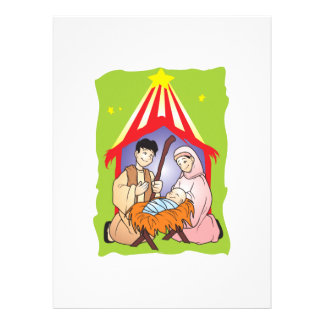 Nativity Christmas Birth of Jesus Christ Stamps Personalized Invite