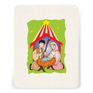 Nativity Christmas Birth of Jesus Christ Stamps Announcements