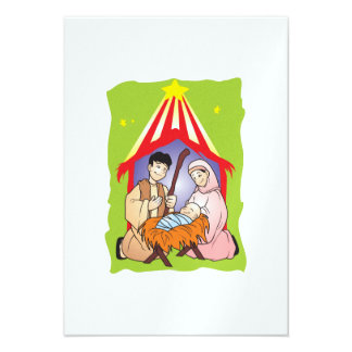 Nativity Christmas Birth of Jesus Christ Stamps Personalized Announcements