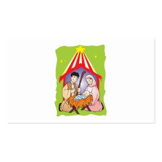 Nativity Christmas Birth of Jesus Christ Wrapper Business Card