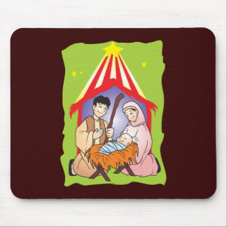 Nativity Christmas Birth of Jesus Christ Wrapper Mouse Pad