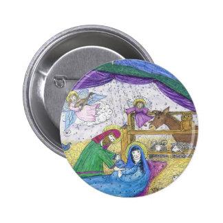Nativity Christmas Button