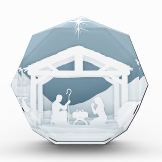 Nativity Christmas Christian Scene Acrylic Award