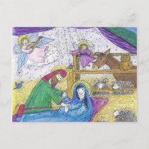 Nativity  Christmas Holiday Postcard