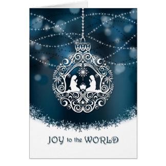 Nativity Christmas Ornament - Joy to the World Card