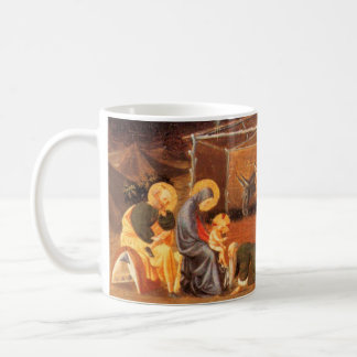 NATIVITY CHRISTMAS PARCHMENT ,ADORATION OF MAGI COFFEE MUG