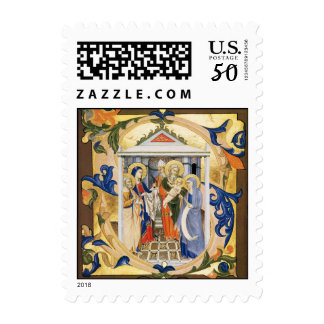 NATIVITY CHRISTMAS PARCHMENT POSTAGE