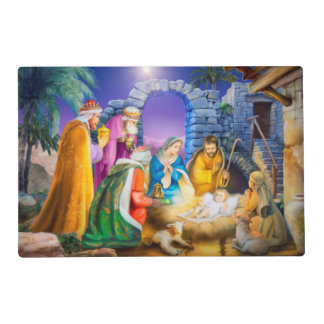 Nativity christmas placemat