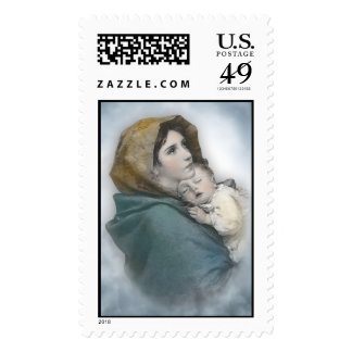 Nativity Christmas postage stamps