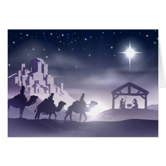 Nativity Christmas Scene Greeting Cards