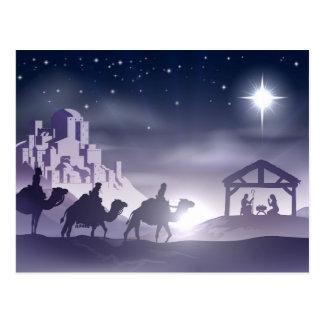 Nativity Christmas Scene Post Card