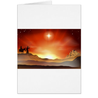 Nativity Christmas story illustration Greeting Card