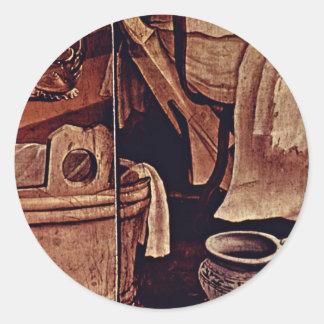 Nativity Detail By Grünewald Mathis Gothart (Best Classic Round Sticker