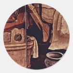 Nativity Detail By Grünewald Mathis Gothart (Best Round Sticker