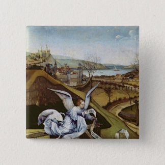 Nativity, detail of the landscape pinback button