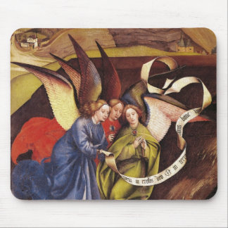 Nativity, detail of three angels, c.1425 mouse pad