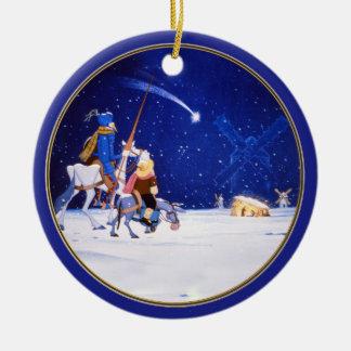 Nativity & Don Quixote fantasy - by Cervantes Ceramic Ornament