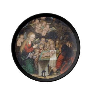 Nativity Featuring Cherubs Dinner Plate