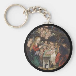 Nativity Featuring Cherubs Keychain