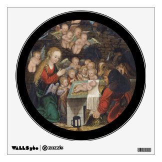 Nativity Featuring Cherubs Wall Sticker