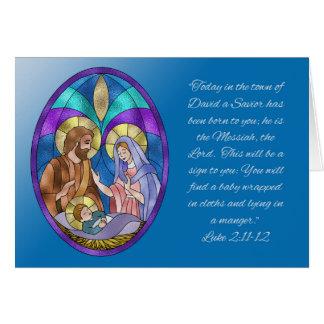 Nativity First Christmas, Luke 2 Card