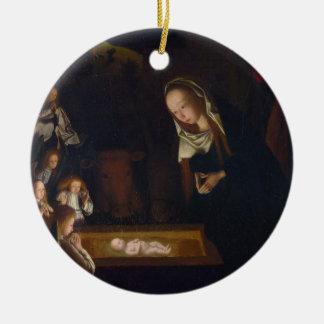 Nativity Geburt Christi by Geertgen tot Sint Jans Ceramic Ornament