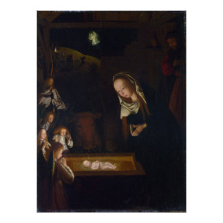Nativity Geburt Christi by Geertgen tot Sint Jans Print
