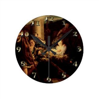 Nativity - Holy Night - Correggio - Renaissance Round Clock