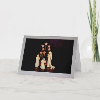 Nativity In A Frame Christmas Card