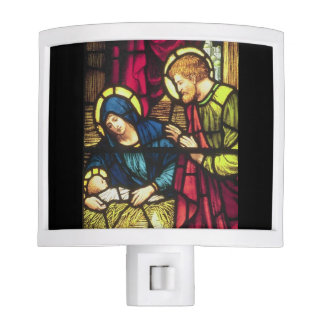 Nativity in Stained Glass Night Light