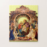"NATIVITY JIGSAW PUZZLE<br><div class=""desc"">10x14 Photo Puzzle Turn designs, photos, and text into a great game with customizable puzzles! Made of sturdy cardboard and mounted on chipboard, these puzzles are printed in vivid and full color. For hours of puzzle enjoyment, give a custom puzzle as a gift today! Size: 10"" x 14"" (252 pieces)...</div>"