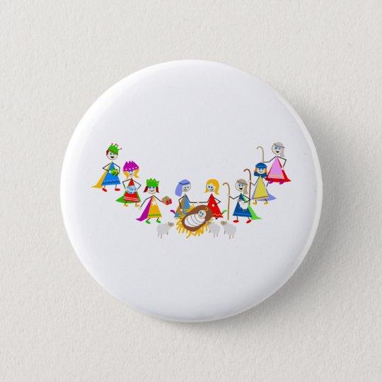 Nativity Kids Button