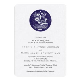 Nativity Letterpress Medallion 5x7 Paper Invitation Card