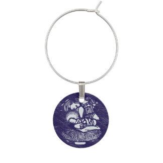 Nativity Letterpress Medallion Wine Charms
