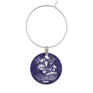 Nativity Letterpress Medallion Wine Glass Charm