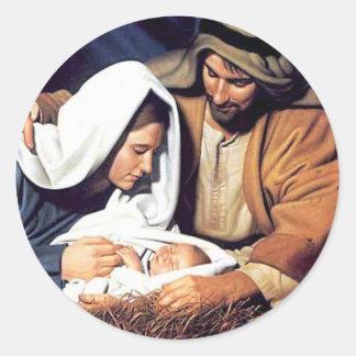 Nativity / Luke 2:11 Classic Round Sticker