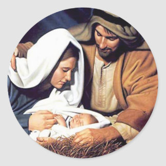 Nativity / Luke 2:11 Round Stickers